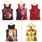 Fashion Women Fitted Sleeveless Graphic Printed T Shirt Blouse Vest Tank Tops