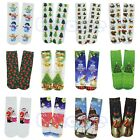 Fashion Unisex Christmas Stockings 3D Printed Multiple Pattern Cotton High Socks