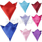Men's Wedding Party Solid Color Satin Pocket Square Hankerchief Bridegroom Hanky