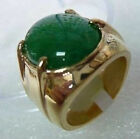 Men's jewelry green jade ring size 9,10,11#