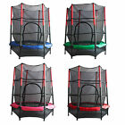 FoxHunter Junior Trampoline With Enclosure Safety Net Kids Activity 4.5FT 55""