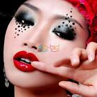 New Arrival Women Lady Transfer Crystal Eyes Rock Sticker Tattoos Make Up Tools