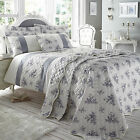 Catherine Lansfield Toile French Grey Floral Panel Duvet Quilt Cover Bedding Set