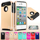 For Apple iPhone 4 4S PC Shockproof Dirt Dust Proof Hard Matte Cover Case