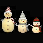 Light Up Glowing Snowy Snowman Warm White LEDs Christmas Xmas Decoration Figure