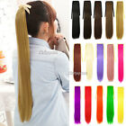 Costume Straight Pony Tail Clip Hair Extensions Ponytail Wrap Around Hairpiece