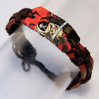 Boy's Men's Fashion Party Whirlybird Bracelet Leather Dog Tag Tags Tattoo Design