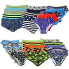 5 Pairs Boys 100% Cotton Briefs Pants Underwear Ages 2-13