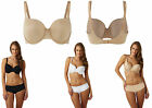 Panache Porcelain Elan Moulded Underwired T-Shirt Bra 7321 Black, Nude or White