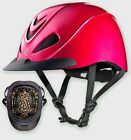 TROXEL LIBERTY LOW PROFILE FUCHSIA PINK ENGLISH AND WESTERN RIDING HELMET SAFETY