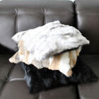 Warm Real Farm Rabbit Fur Pillow Case Sofa Pillow Case Super Quality Genuine