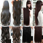 "Extra long Women hair Clip on Hair Extension 3/4 Full Head 5 clips on 17-30"" hg"