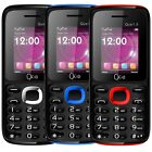 Que 1.8 Bolt Unlocked GSM Worldwide Dual SIM Black,  Black/Blue, Black/Red