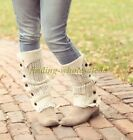 Women's Soft Crochet Knitted Lace Trim Boot Cuffs Toppers Leg Warmers Socks
