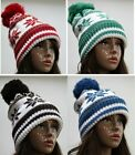 Snowflakes hat, Fold Up Cable-knit beanie Pom-Pom Beanies Winter Hat