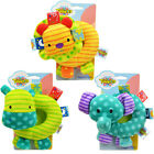 Infant Baby Kids Taggies Adorable Bright Colours Soft Stuffed Rattle Doll Toy