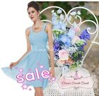 BNWT AMY Baby Blue Chiffon Prom Evening Bridesmaid Occasion Dress UK 6 - 18
