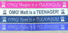 OMG! TEENAGER 13th BIRTHDAY PERSONALISED BANNER for a GIRL or BOY, FAST DESPATCH