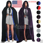 Hot Halloween Xmas Wicca Velvet Wedding Cloak Gothic Hooded Witchcraft Larp Cape