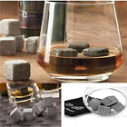 9PC Whiskey Granite Stone Ice Cubes Drink Cooler Gift Set Whisky Scotch Shot On