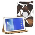"Leather 360 Rotating Case Cover Skin Stand for Samsung Galaxy Tab 3 7"" LITE T110"