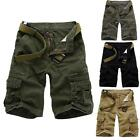 Best Men lMilitary Cargo Combat Work Fifth Shorts Pants Trousers Gray Modern