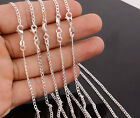 "Wholesale lots 5pcs 925 Sterling Silver 2.0mm Curb Chain Necklace 16-30"" Hot"
