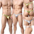 Sexy Mens Underwear Pouch Thong G-String T-back Shining Spandex Panties Boxers