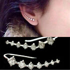 1 Pair 18K GP White Plated Rhinestone Element Crystal Earrings Ear Hook Austria