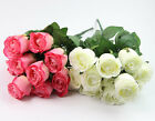 11 Rose Artificial Flower For wedding And Home Design Bouquet Decor Floral Craft