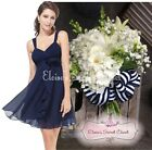 BNWT FIFI Navy Blue Chiffon Corsage Prom Evening Bridesmaid Dress UK 6 - 18