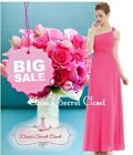 BNWT ROMA Hot Pink Corsage Chiffon Maxi Full Length Prom Bridesmaid Dress 6 - 18
