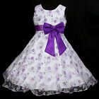 141126w975 UkW Light,Deep Purple X'mas Party Flower Girls Dress 2,3,4,5-12y