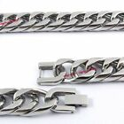 316L Stainless Steel 14mm Cuban Round Sides Curb Chain Necklace HAND POLISHED