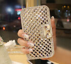 Luxury Bling Crystal Rhinestone White Wallet PU Leather Case Cover For Sony
