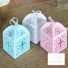 48/120/240 Laser Cut Favor Boxes w/ Ribbon Wedding Party Baby Shower Gift Candy