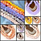 7x5mm Czech Glass Button Style Flower Beads 25 pcs Peach, Orange, Pink, Lavender