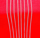 "10p 16-30"" Wholesale Fashion Jewelry 925 Silver Plated Flat Curb Chain Necklaces"
