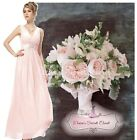 BNWT MILLIE Pale Pink Chiffon Lace Prom Evening Bridesmaid Dress UK Sizes 6 - 14