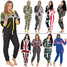 'Womens Mens Adult Onesie All In One Fleece Jumpsuit Aztec Camo Camouflage USA'