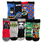 Superman Batman Ninja Turtles Star Wars Boys 2 Pairs Socks F1327 Size 5-10 year