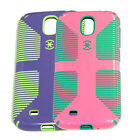 Speck CandyShell Grip Samsung Galaxy S4 Case Flamingo/Malachite or Purple/Green