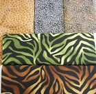 Novelty Animal Skin Prints 100% Cotton fabric giraffe black brown 1 yd FREE SHIP