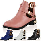 WOMENS NEW CUT OUT LADIES CASUAL SUMMER ZIP UP FLAT BIKER ANKLE BOOTS SIZE 3-8