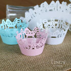 Laser Cut Cupcake Wrappers Wraps Collars Liners Wedding Party Favor Baby Shower
