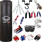 TurnerMAX Heavy Punch Bag Set Boxing Bag Training Punching Bag Gloves Hook Black