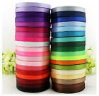 "New 1/2"" (10mm)25 yds satin ribbon wedding craft sewing decorations many colors"