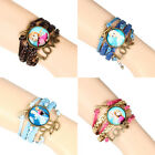 New Girls Kids Gifts Frozen Braided Leather Friends Custome Bracelet Hand Chain
