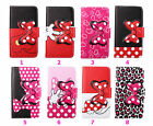 Cartoon Bowknot Leather Wallet ID Holder Flip Stand Case Cover For Samsung G130H