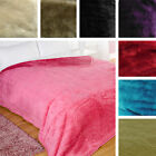 Dreamscene Large Faux Fur Mink Super Soft Snuggle Bed Fleece Blanket Throw Over